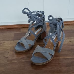 Steve Madden Size 7.5 Suede Ankle Wrap Sandals